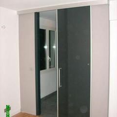 Porte in vetro scorrevole esterno muro Mentone