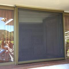 Zanzariera telaio bronzo rete grigia Seborga